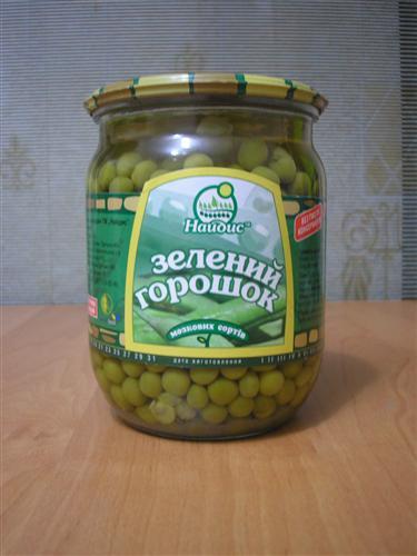 зеленый горошек Найдис